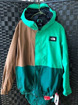 b687f3f74ee4 NORTH FACE Mens TURN IT UP Green   Brown HOODED JACKET   Cargo Pants NWT  Large