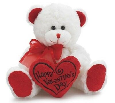 Valentines Day Teddy Bear Gift Soft Plush Red Heart Message Pillow Toy For Her