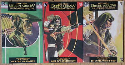 Green Arrow The Longbow Hunters #1-3, Mike Grell (DC 1987) Limited Series, VF+