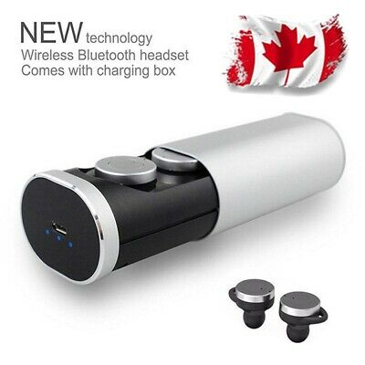 Mini Twins Bluetooth Headset In-Ear Earphone Earbud Headphone For iPhone CANADA