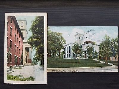 Two 1907 Amherst College Post Cards