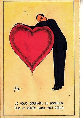 BF29. Postcard. I wish you the happiness that I carry in my heart. Lift up flap.