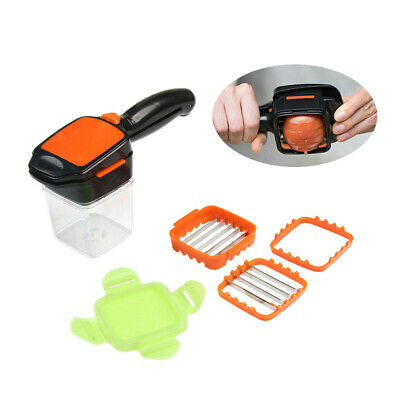 1PC Nicer Quick 5-in1 Dicer Fruit Vegetable Cutter Set Chopper Stainless Steel