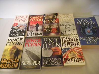 Lot of 9 VINCE FLYNN Mystery THRILLERS PB Mitch Rapp Series