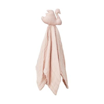 Swan Cuddle Cloth - Blossom Pink baby kids newborn wrap muslin squares