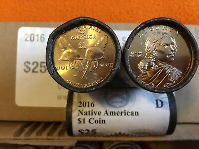 2016-D Native American $1 Coin Roll Uncirculated