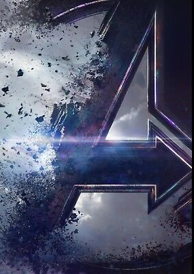 AVENGERS: ENDGAME Captain Marvel, Black Panther, Hawkeye  A5 A4 A3 Teaser Poster