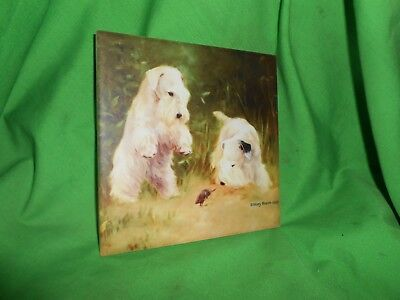 "Sealyham Terrier  4"" x 4"" Ceramic Art Tile Free Shipping"