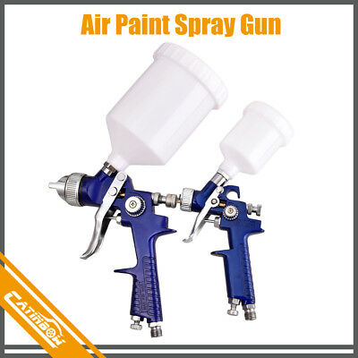 2Pcs HVLP 1.0mm 1.4mm Air Spray Nozzle Gun Kit Primer Gravity Repair Feed Paint