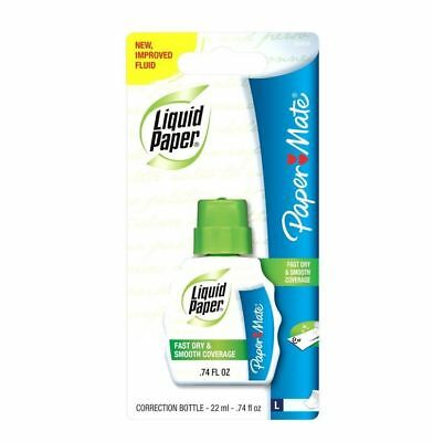 Paper Mate Liquid Paper Fast Dry Correction Fluid 0.74 oz (Pack of 3)