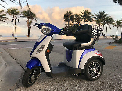 MOBILITY SCOOTER POWERFUL 600W 60 V Tricycle wheelchair 16mph handicap EMOTO USA