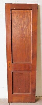 1900's Antique Wood DOOR Interior Two Panel CRAFTSMAN / MISSION Style Fir ORNATE
