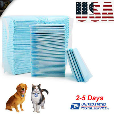 100x Dog Cat Pet Leak proof liner Puppy Pads Wee Pee Piddle Pad training Supply