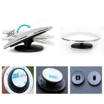 UK 2Pc Car Blind Spot Mirror Adjustable Wide Angle 360 Rotation Convex Rear View