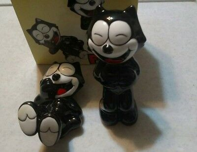 Felix the Cat Salt & Pepper with box Shakers 1997