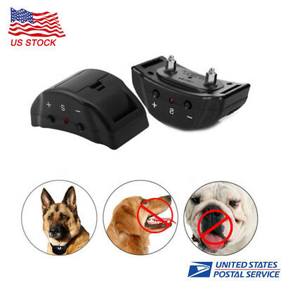 Electric Pet Training Control Trainer Shock Anti No Bark Dog Collar Stop Barking