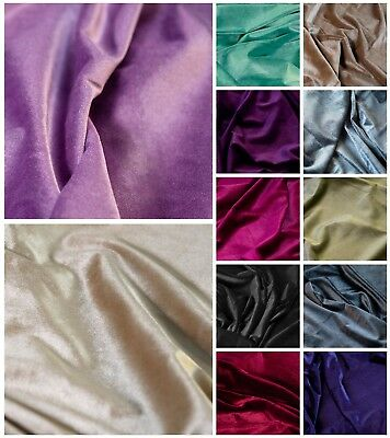 "Premium Spandex 2-Way Stretch Velvet Plain Dyed 58"" Dress, Garments & Cushions"