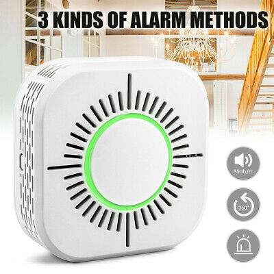 Wireless Smoke Sensor Detector Fire Alarm Battery Home Security Guarding System