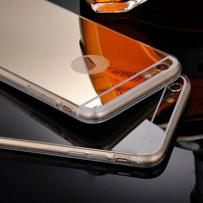 Luxury Ultra Thin Clear Mirror Case Phone Cover for iPhone 6s 7 8 Plus X 5s SE