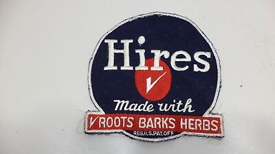 "Large Vintage Hires Root Beer 1950's Cloth Uniform Patch Coat Hat RARE 7"" Tall"