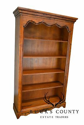 French Country Style Large Walnut Open Bookcase Made in Italy