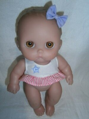 23cm  2006 BERENGUER CUPIE TYPE JOINTED VINYL DOLL WITH MOLDED HAIR,