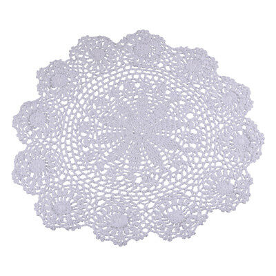 45cm Vintage Floral Hand Crochet Cotton Lace Doily Round Flower Table Placemat