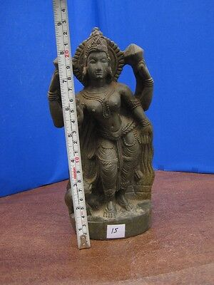 1900's Antique Old Rare Hand Carved Stone Collectible Religious Vintage Idol ~15