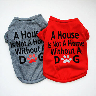 Cute Dog Puppy Cat Shirt T-Shirt Solid Clothes Apparel For SMALL Pet XS- L