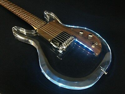 Haze Transparent Acrylic Electric Guitar w/Multicolor LED Lights in Body HSE-025