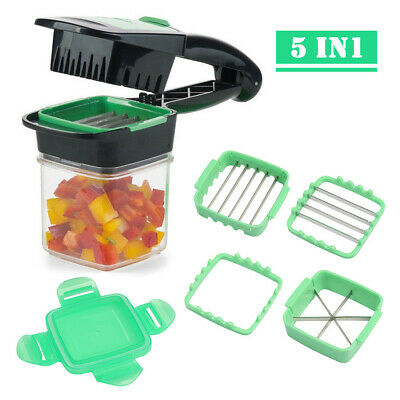 Nicer Quick 5-in1 Dicer Fruit Vegetable Cutter Set Chopper Stainless Steel 1PCS