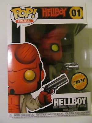 Funko Pop! Comics Hellboy #01 Horns CHASE Vinyl Figure with protector