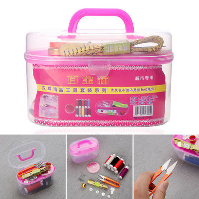 28 Pcs Home Travel Thread Threader Needle Tape Measure Scissor Sewing Kit