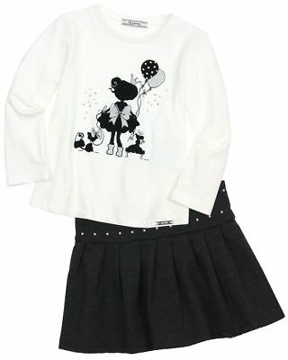MAYORAL Baby Girl Toddler 2 piece Top & Skirt Set Outfit Size 2 Years