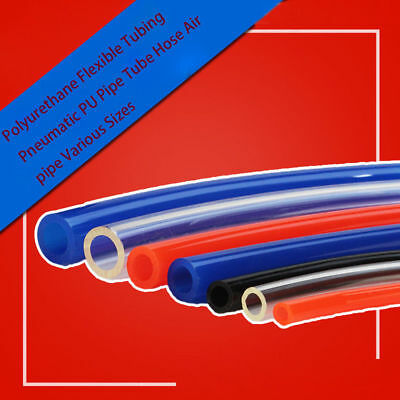 Polyurethane Flexible Tubing Pneumatic PU Pipe Tube Hose Air pipe Various Sizes