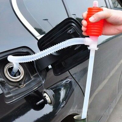 Car Auto Hand Oil Pump Extractor Manual Fluid Fuel Transfer Suction Siphon Tub