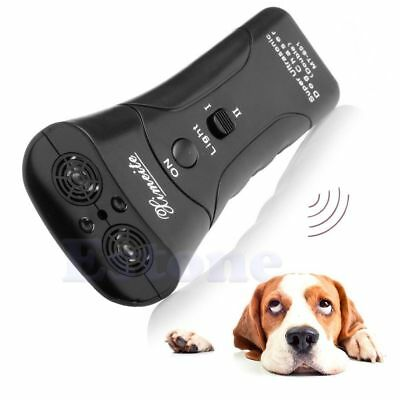 Ultrasonic Dog Chaser Stop Aggressive Animal Attacks Repeller Flashlight Hot