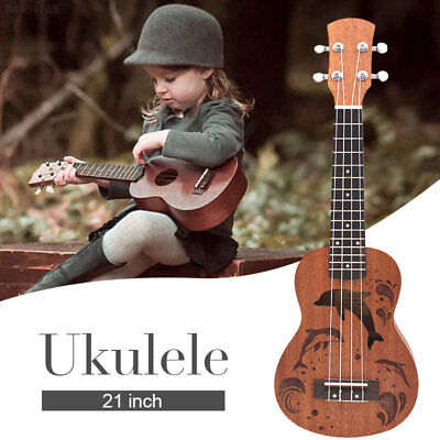 7B09 Ukulele Soprano Mahogany Ukelele 21 Inch  Guitar Kit for Beginners Gift