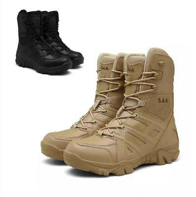Soldier & Police Military Tactical Ankle Boots Waterproof Hiking  Walking Shoes