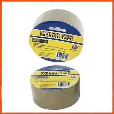 36 x BROWN HEAVY-DUTY PACKING TAPE 48mm x 50m | Sticky Sealing Packaging Tape