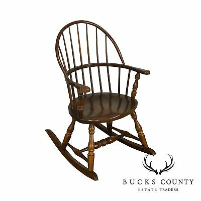 Frederick Duckloe & Bros Vintage Childs Small Windsor Rocker Rocking Chair