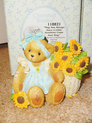 Cherished Teddies Isabella #118821 Cassi #118822 Lot 2 Sunflower Picked Sunshine