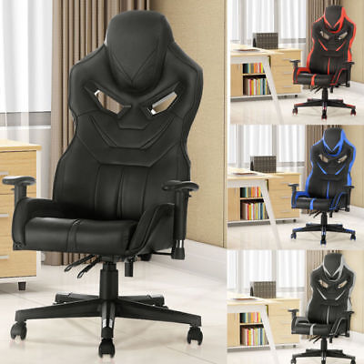 Office Chair Executive Racing Gaming Swivel Pu Leather Sport Computer Seater