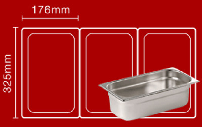 Bain maries Pot liners Easy bags Catering Mobile Food ..Size 2 :  325mm x 176mm
