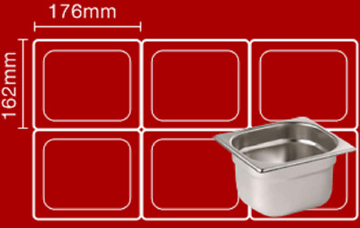 Bain maries Pot liners Easy bags Catering Mobile Food .Size 6 : 176mm x 162mm