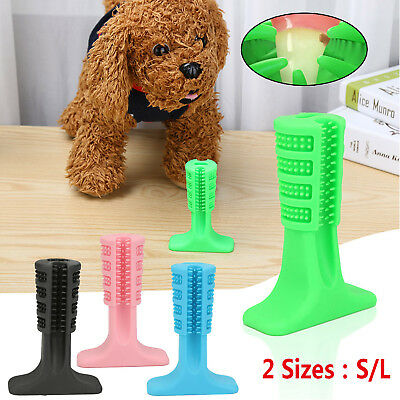 Silicone Dogs Toothbrush Pet Puppy Teeth Cleaning Brushing Stick Toy Oral Care