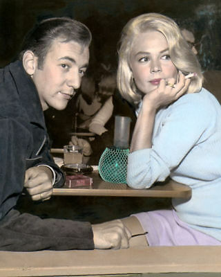 "BOBBY DARIN & SANDRA DEE HOLLYWOOD ACTORS 8x10"" HAND COLOR TINTED PHOTOGRAPH"
