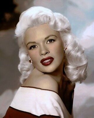 """JAYNE MANSFIELD HOLLYWOOD ACTRESS BROADWAY 8x10"""" HAND COLOR TINTED PHOTOGRAPH"""