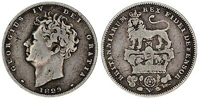 1829 George IV sixpence Great Britain silver coin