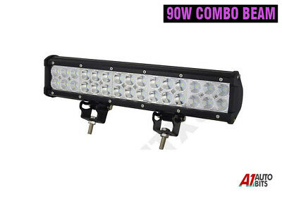 14 Inch 90w Led Work Combo Light Bar Offroad Truck Driving Suv Jeep 4WD 12/24v